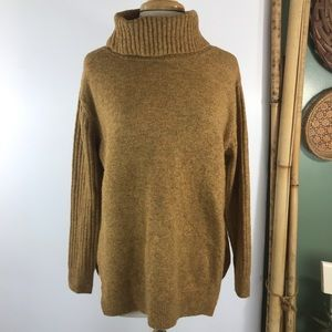 Topshop Womens Turtleneck Ribbed Sweater